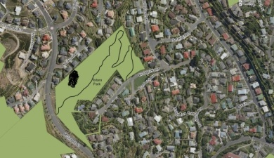 Map Totara Park proposed trackroute