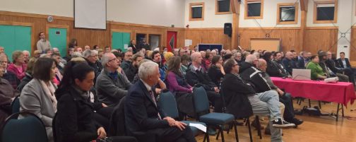 A 'town hall' style meeting in Johnsonville Community Centre
