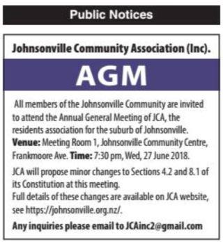 AGM 2018 Public Notice